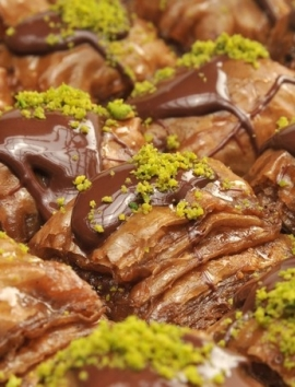 Çikolatalı Fıstık Baklava
