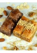 Kakao-Mandel Baklava gemischt mit Walnussbaklava