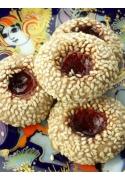 Süßes Mürbeteiggebäck mit Sesam